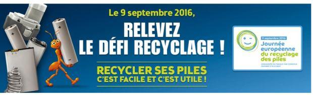 action recyclage des piles 9 septembre 2016